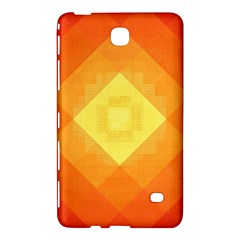 Pattern Retired Background Orange Samsung Galaxy Tab 4 (8 ) Hardshell Case