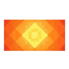 Pattern Retired Background Orange Satin Wrap