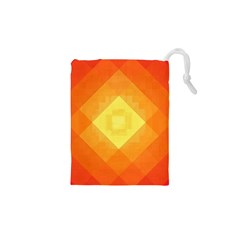 Pattern Retired Background Orange Drawstring Pouches (xs)