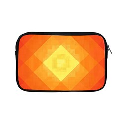 Pattern Retired Background Orange Apple MacBook Pro 13  Zipper Case