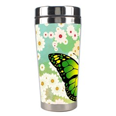 Green Butterfly Stainless Steel Travel Tumblers