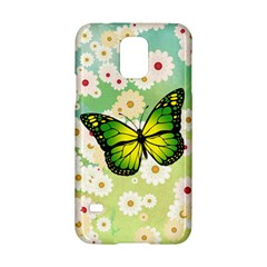 Green Butterfly Samsung Galaxy S5 Hardshell Case