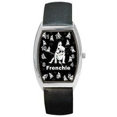 Frenchie Barrel Style Metal Watch