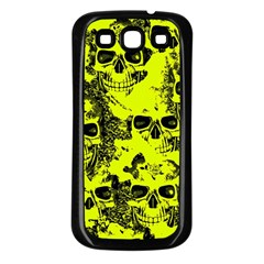 Cloudy Skulls Black Yellow Samsung Galaxy S3 Back Case (Black)