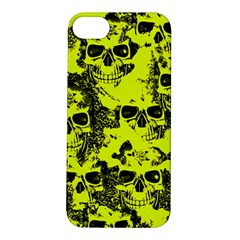 Cloudy Skulls Black Yellow Apple iPhone 5S/ SE Hardshell Case