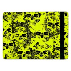 Cloudy Skulls Black Yellow Samsung Galaxy Tab Pro 12.2  Flip Case