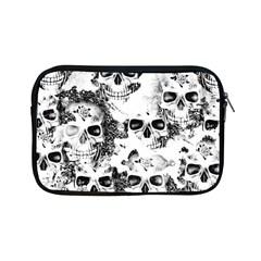 Cloudy Skulls B&w Apple iPad Mini Zipper Cases