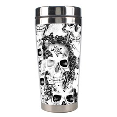 Cloudy Skulls B&w Stainless Steel Travel Tumblers