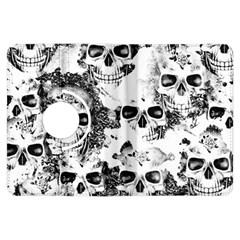 Cloudy Skulls B&w Kindle Fire Hdx Flip 360 Case