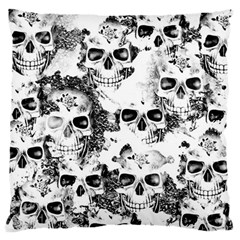 Cloudy Skulls B&w Standard Flano Cushion Case (One Side)