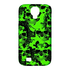 Cloudy Skulls Black Green Samsung Galaxy S4 Classic Hardshell Case (pc+silicone)