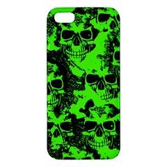 Cloudy Skulls Black Green iPhone 5S/ SE Premium Hardshell Case