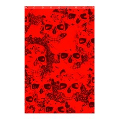 Cloudy Skulls Red Shower Curtain 48  x 72  (Small)