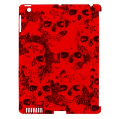 Cloudy Skulls Red Apple iPad 3/4 Hardshell Case (Compatible with Smart Cover)