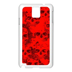 Cloudy Skulls Red Samsung Galaxy Note 3 N9005 Case (White)
