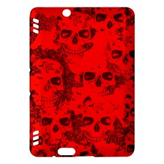 Cloudy Skulls Red Kindle Fire HDX Hardshell Case