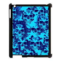 Cloudy Skulls Blue Apple Ipad 3/4 Case (black)