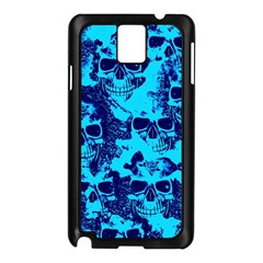 Cloudy Skulls Blue Samsung Galaxy Note 3 N9005 Case (Black)