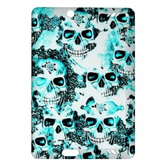 Cloudy Skulls White Aqua Amazon Kindle Fire HD (2013) Hardshell Case