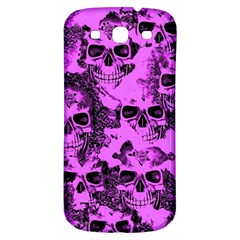 Cloudy Skulls Pink Samsung Galaxy S3 S III Classic Hardshell Back Case