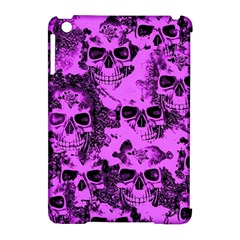 Cloudy Skulls Pink Apple iPad Mini Hardshell Case (Compatible with Smart Cover)