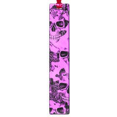 Cloudy Skulls Pink Large Book Marks
