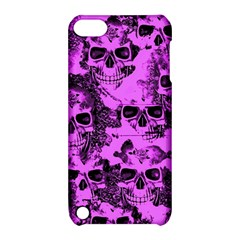 Cloudy Skulls Pink Apple iPod Touch 5 Hardshell Case with Stand
