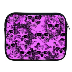 Cloudy Skulls Pink Apple iPad 2/3/4 Zipper Cases