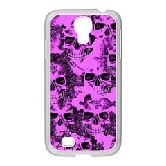 Cloudy Skulls Pink Samsung GALAXY S4 I9500/ I9505 Case (White)