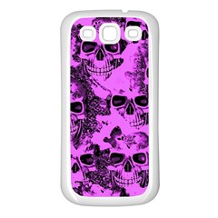 Cloudy Skulls Pink Samsung Galaxy S3 Back Case (White)