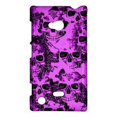 Cloudy Skulls Pink Nokia Lumia 720