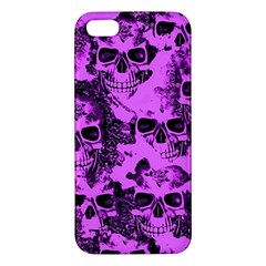 Cloudy Skulls Pink iPhone 5S/ SE Premium Hardshell Case