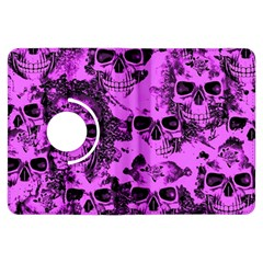 Cloudy Skulls Pink Kindle Fire HDX Flip 360 Case