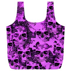 Cloudy Skulls Pink Full Print Recycle Bags (L)