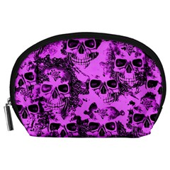 Cloudy Skulls Pink Accessory Pouches (Large)