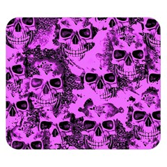 Cloudy Skulls Pink Double Sided Flano Blanket (Small)