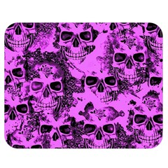 Cloudy Skulls Pink Double Sided Flano Blanket (Medium)