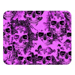 Cloudy Skulls Pink Double Sided Flano Blanket (Large)