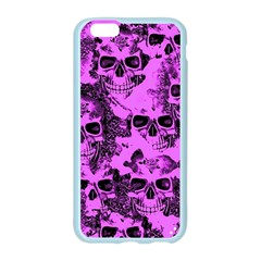 Cloudy Skulls Pink Apple Seamless iPhone 6/6S Case (Color)