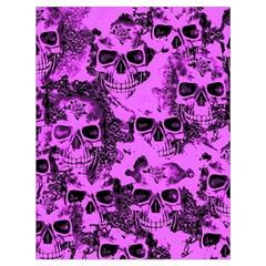 Cloudy Skulls Pink Drawstring Bag (Large)