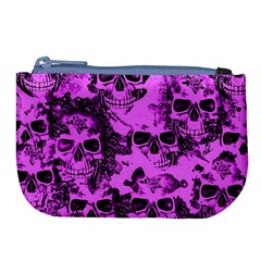 Cloudy Skulls Pink Large Coin Purse