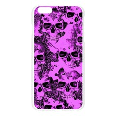 Cloudy Skulls Pink Apple Seamless iPhone 6 Plus/6S Plus Case (Transparent)