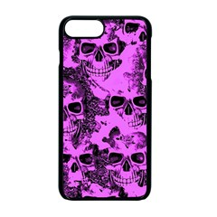Cloudy Skulls Pink Apple iPhone 7 Plus Seamless Case (Black)