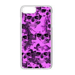 Cloudy Skulls Pink Apple iPhone 7 Plus White Seamless Case