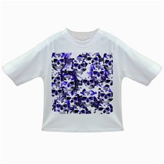 Cloudy Skulls White Blue Infant/Toddler T-Shirts