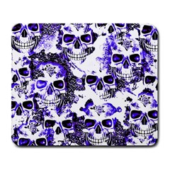 Cloudy Skulls White Blue Large Mousepads