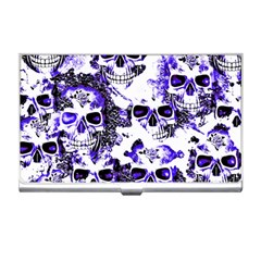 Cloudy Skulls White Blue Business Card Holders