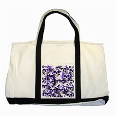 Cloudy Skulls White Blue Two Tone Tote Bag