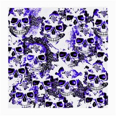 Cloudy Skulls White Blue Medium Glasses Cloth (2-Side)