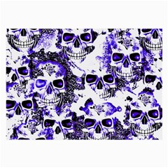 Cloudy Skulls White Blue Large Glasses Cloth (2-Side)
